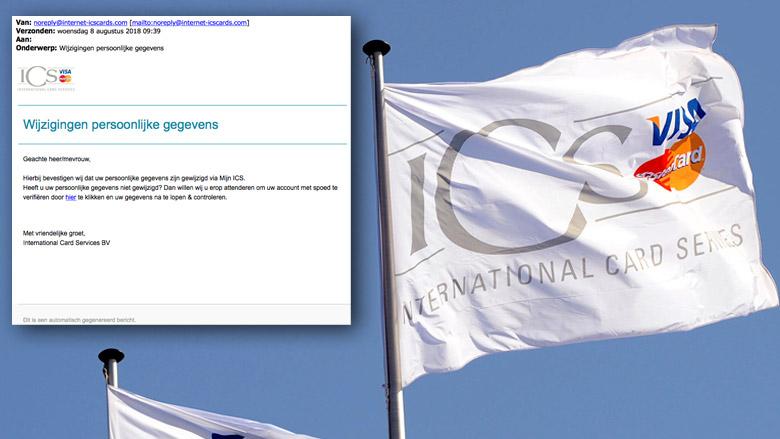 Valse e-mail 'ICS' over wijzigen persoonlijke gegevens