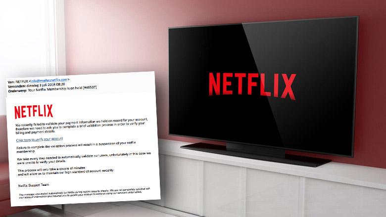 Pas op voor Engelstalige phishingmail 'Netflix'