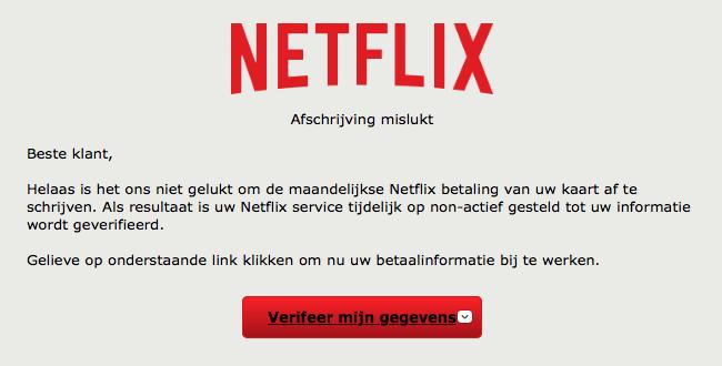 Netflix-klanten doelwit phishingaanval