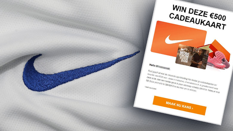 Winactie 'Nike' over cadeaukaart is misleiding