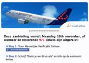 Facebookoplichters misbruiken naam Brussels Airlines