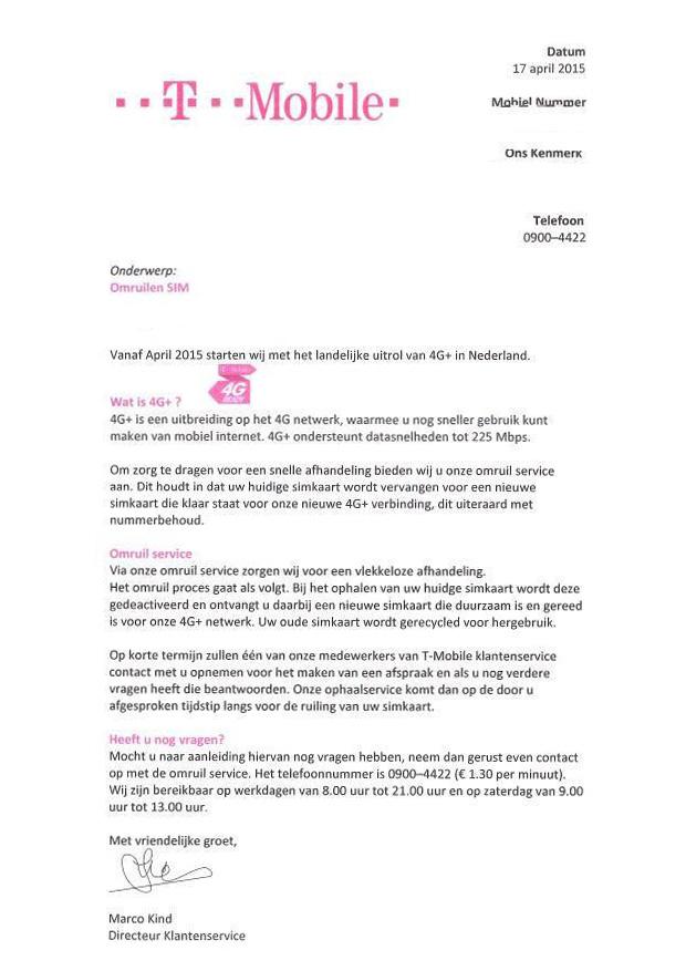T-Mobile waarschuwt voor oplichtersbrief