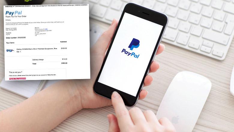 Pas op voor phishingmails 'PayPal' over dure aankoop
