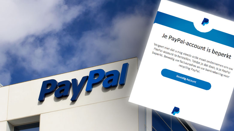 Trap niet in phishingmail 'PayPal'