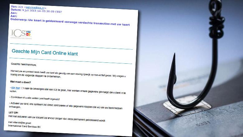 Valse e-mail 'ICS': kaart geblokkeerd