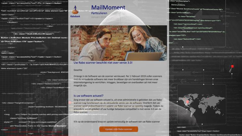 Nepmail van 'Rabobank' over Rabo Scanner 3.0 in omloop