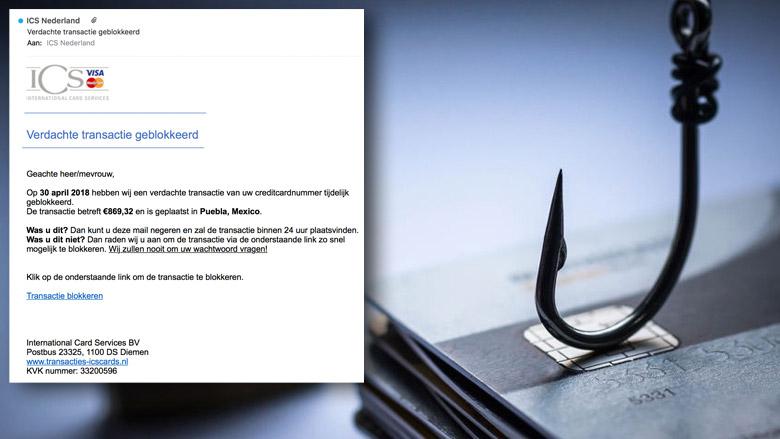 E-mail 'ICS' over verdachte transactie is vals