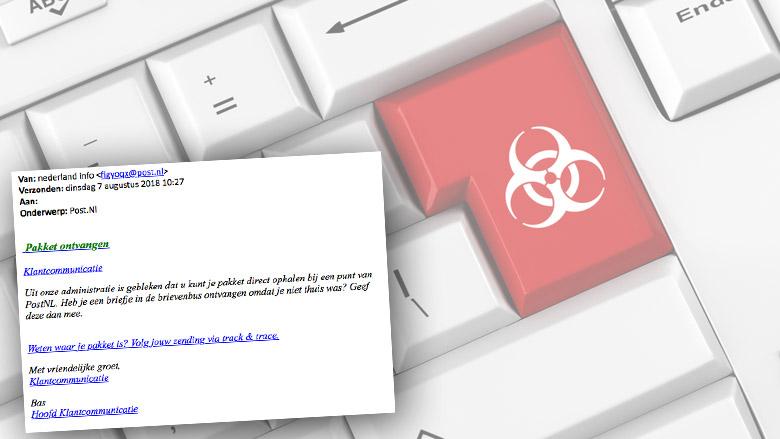 E-mail 'PostNL' over pakket bevat malware