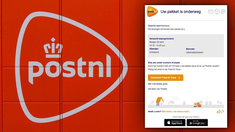 Malwaremail PostNL wederom in omloop