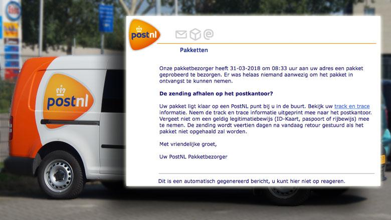 Pas op voor e-mail 'PostNL' met malware!