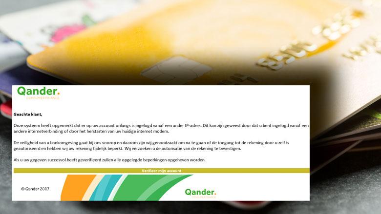 Let op! Phishingmail 'Qander' in omloop