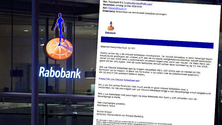 Let op! Gepersonaliseerde phishingmail 'Rabobank'
