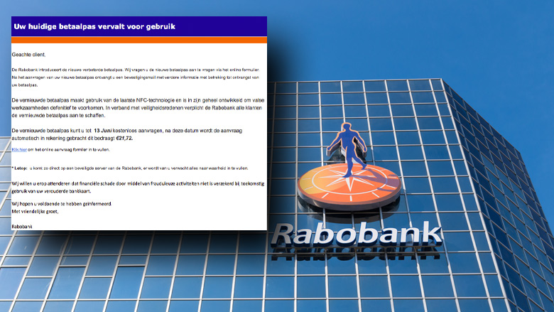 Let op! E-mail 'Rabobank' is vals