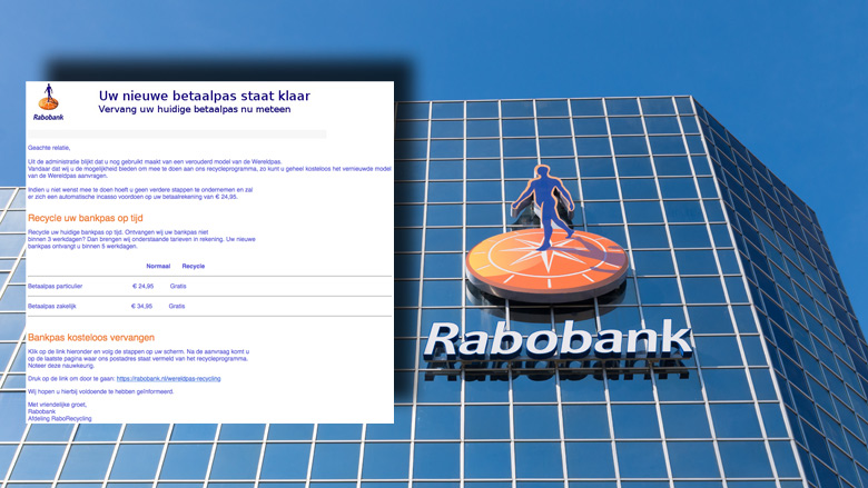 E-mail 'Rabobank' over WereldPas is bankpas-phishing