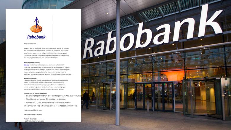 Phishingmail 'Rabobank' over aanvragen betaalpas
