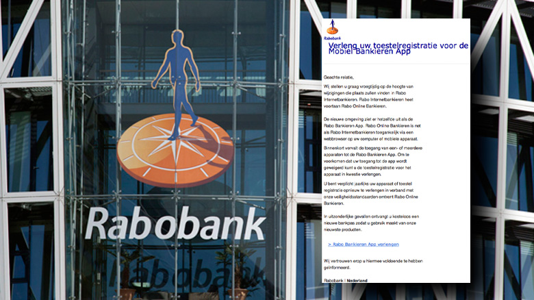 Pas op voor e-mail over Rabo Bankieren App!
