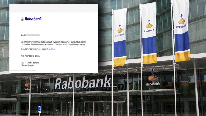 Pas op voor zeer realistische phishingmail uit naam van Rabobank