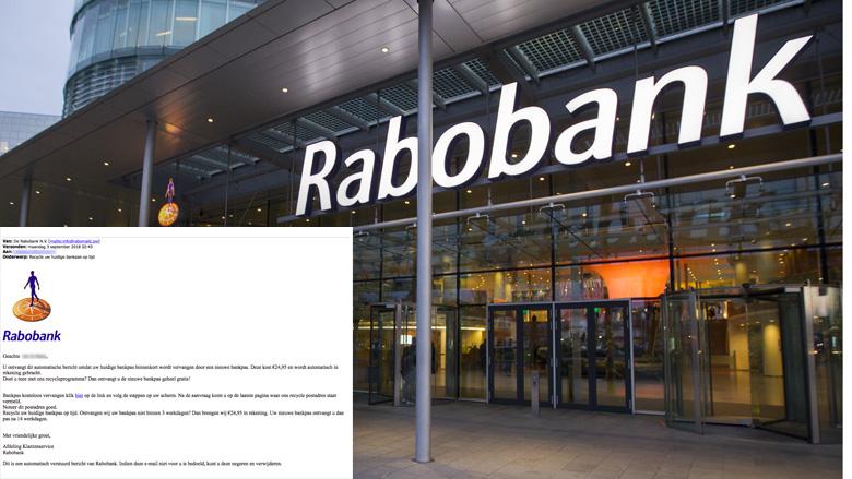Pas op voor nepmail Rabobank over nieuwe bankpas