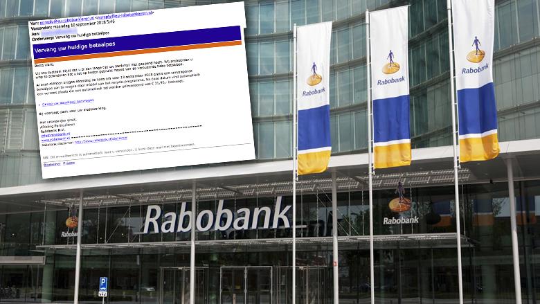 Valse e-mail 'Rabobank' over nieuwe pas in omloop