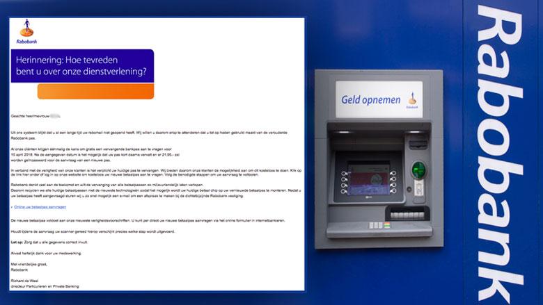 Oplichters willen via e-mail bankpas Rabobank uit brievenbus hengelen