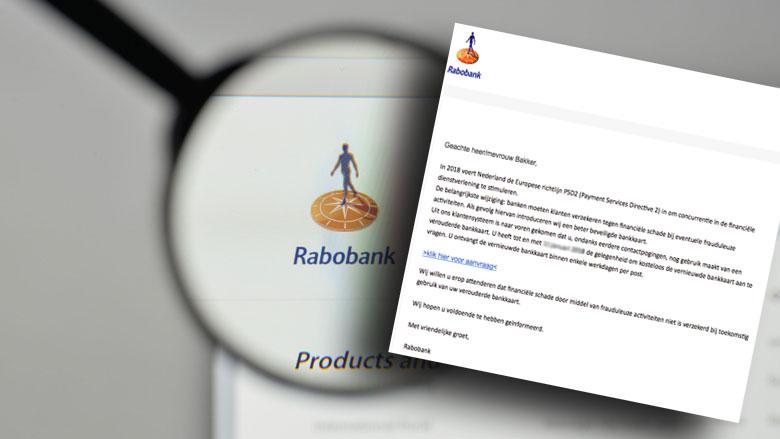 Phishingmail 'Rabobank' over verouderde bankpas