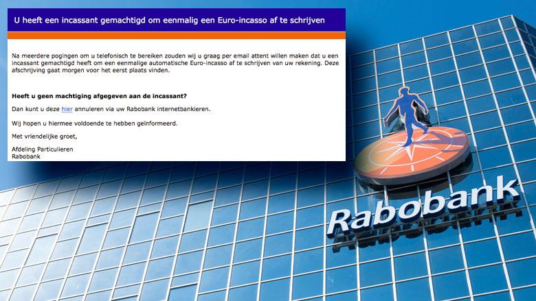 Wederom veel meldingen over valse e-mail 'Rabobank'