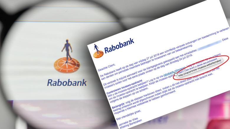 Rabo-klanten opgelet! Valse e-mail in omloop