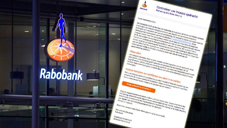 Phishingmail 'Rabobank' lijkt sprekend op echte mail