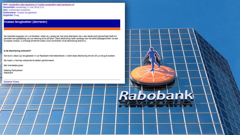Valse e-mail 'Rabobank' over terugboeken incasso