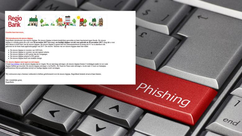 Opnieuw phishingmail van 'Regiobank' in omloop