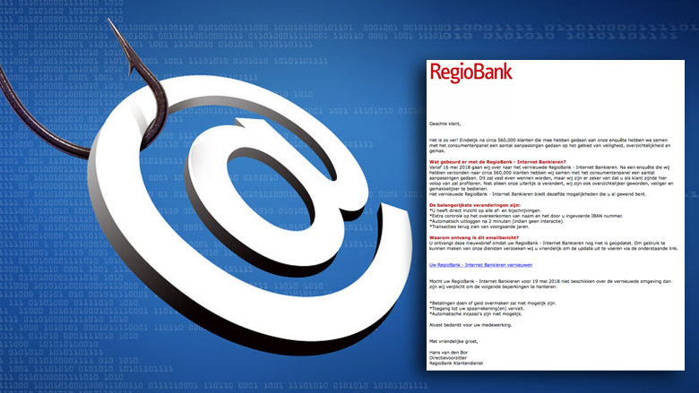 Trap niet in nepmail 'RegioBank' over update internetbankieren