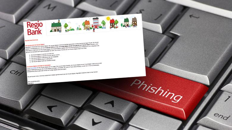 Phishingmail Regiobank: 'Uw digipas vervalt voor gebruik'