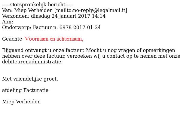 Pas op voor gepersonaliseerde e-mails met malware
