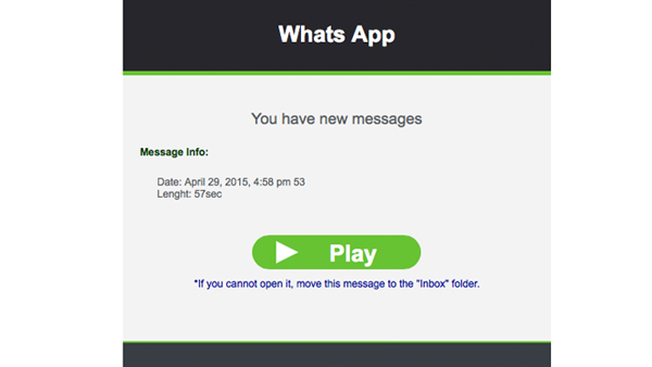 WhatsApp: 'You have new messages' is phishing!