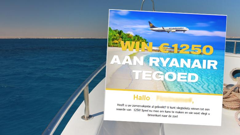 Ga niet in op mail 'Ryanair tegoed'