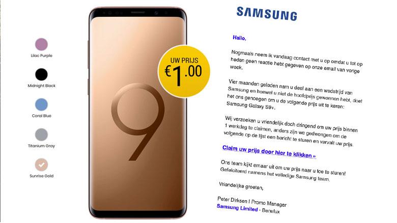 Trap niet in deze misleidende winactie van 'Samsung'