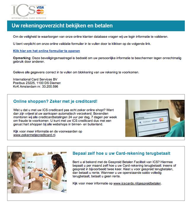 Pas op voor valse e-mail van ICS