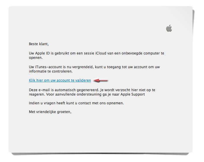 Pas op voor valse e-mail iTunes!