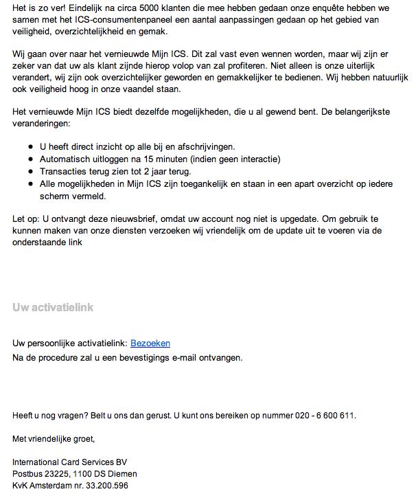 Valse mail 'ICS' in omloop!