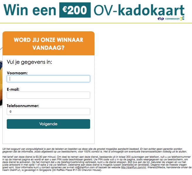 Pas op voor mail 'OV Kado'