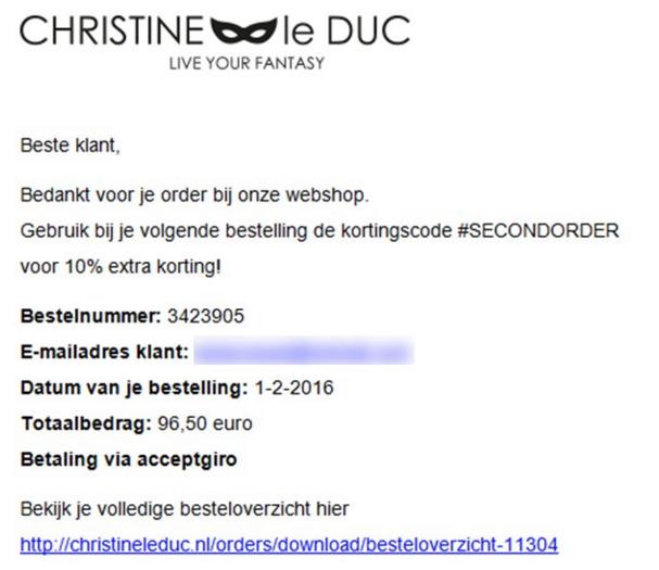 Pas op voor valse e-mails Christine le Duc!