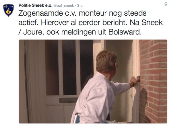 Nep cv-monteur actief in Friesland