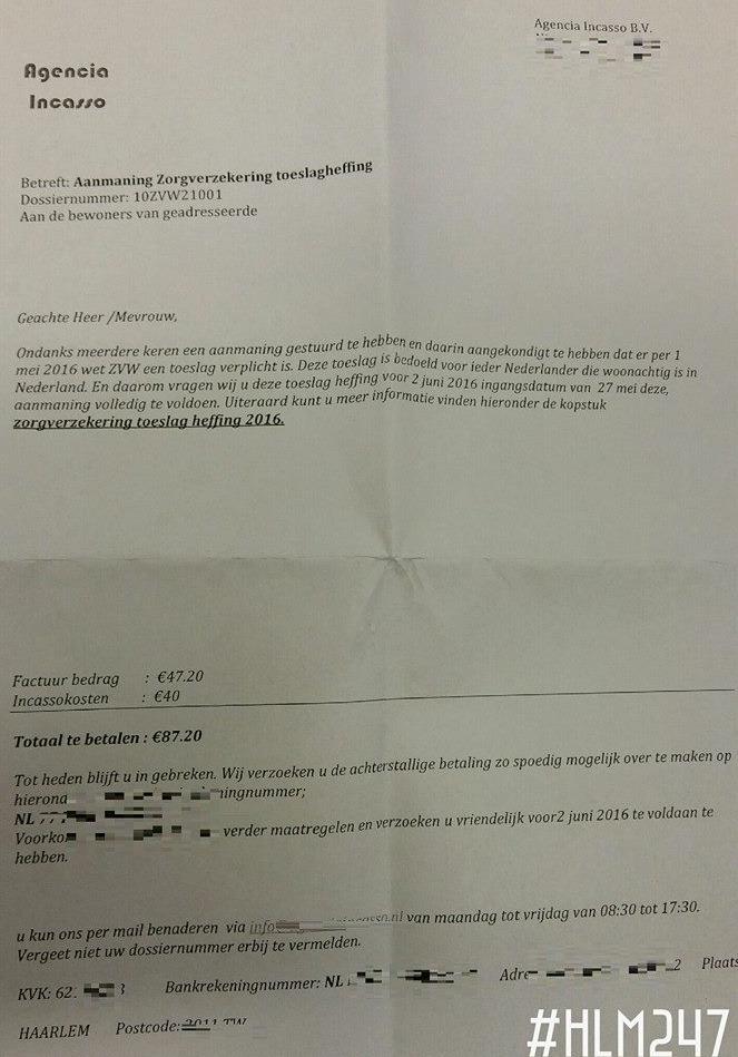 Politie Haarlem waarschuwt voor valse brief