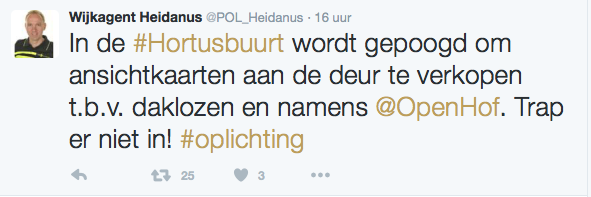 Politie Groningen waarschuwt voor oplichter