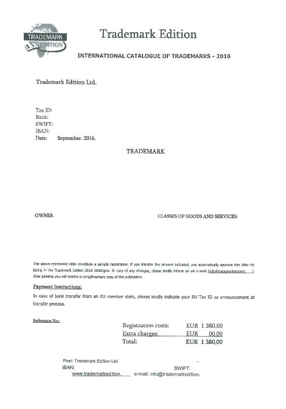 Let op: nepfactuur 'Trademark Edition'