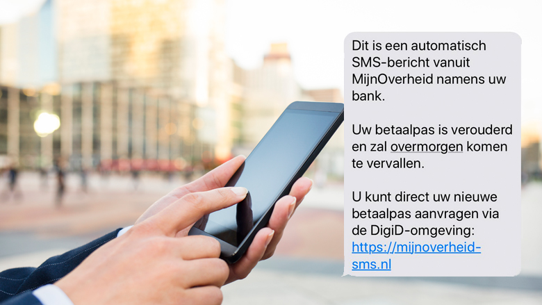 Sms namens 'MijnOverheid' is phishing