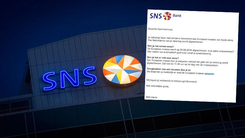 Valse e-mail uit naam SNS: 'incasso-attentie'