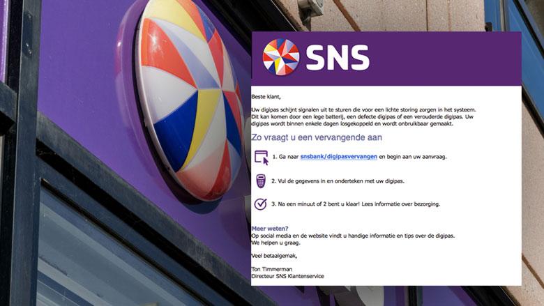 Phishingmail SNS Bank over 'digipas stoornis'