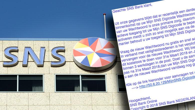 E-mail 'SNS Bank' blijkt phishing