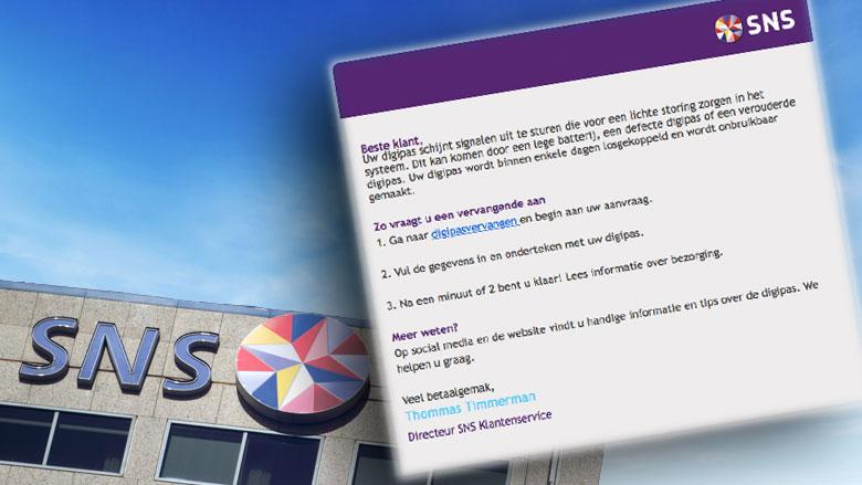 Phishingmail uit naam van SNS Bank in omloop